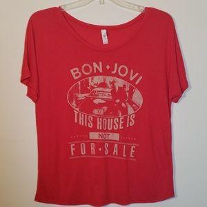 EUC Bon Jovie Graphic Band T-shirt